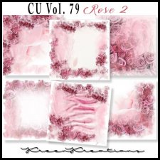 CU Vol. 79 Papers Pack Rose 2 by Kreen Kreations
