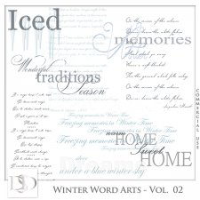 Winter Word Arts Vol 02 by D's Design
