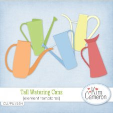 Tall Watering Cans Templates by Kim Cameron