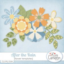 After the Rain Flowers Templates by Kim Cameron