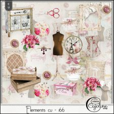 Elements CU - 166 Home Sewing Decor by Cajoline-Scrap