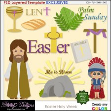 Easter Holy Week - EXCLUSIVE Layered TEMPLATES