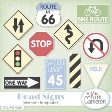 Road Signs TEMPLATE by Kim Cameron