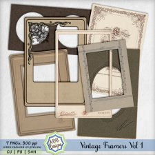 Vintage Frames Vol 1 by ADB Designs