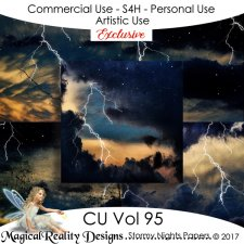 Stormy Nights Backgrounds EXCLUSIVE - CU Vol 95 by MagicalReality Designs