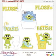 Bathroom Frog Layered Element Templates