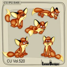 CU Vol 520 Fox Animal Elements by Lemur Designs