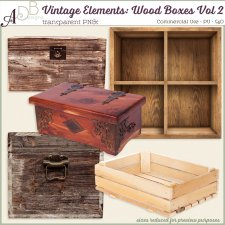 Vintage Elements-Wood Boxes Vol 2 by ADB Designs