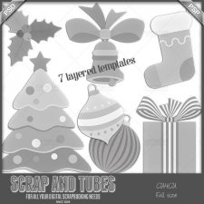 Christmas Mix Templates 2 CU4CU by Scrap and Tubes