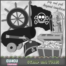 Pirate Templates 2 CU4CU by Scrap and Tubes