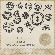 Doodle Brushes 1 by Josy