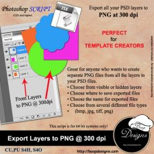 Export Layers to PNG 300 dpi by Boop Designs