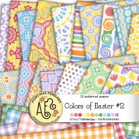 Colors of Easter 2 Papers by Adriana Ferrari