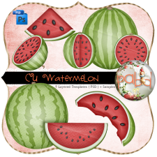 Watermelon Layered Template by Peek a Boo Designs