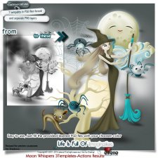 Moon Whispers3Elements-Actions results by Eirene Designs