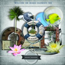Welcome on board elements mix by Graphic Creations