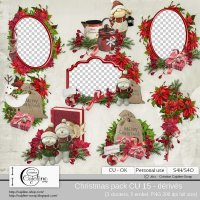 Christmas pack CU 15 - derivative by Cajoline-Scrap