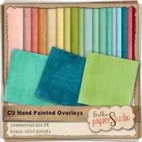 Colorful Hand Painted Overlays by Papierstudio Silke