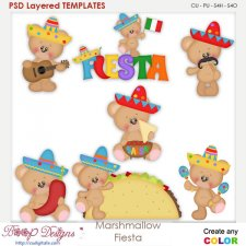 Marshmallow Mexico Fiesta Layered Element Templates