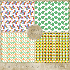 Saint Patricks Paper Layered Templates 1 by Josy