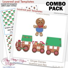 Ginger Express Train Layered Template COMBO Set