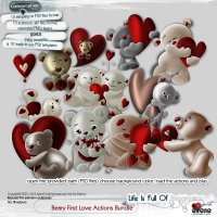 Beary First Love Actions Bundle