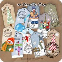 Christmas Tags (CU/PU/S4H) by Dreamcatcher Designs