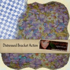 Distressed Bracket action by Monica Larsen