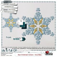 Blue Christmas3 actions - Snowflakes