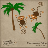 Monkeys And Palms