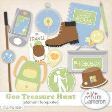 Geo Treasure Hunt Templates by Kim Cameron