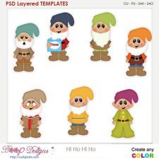Hi Ho Hi Ho Dwarfs Layered Element Templates