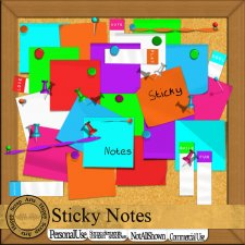 Sticky Notes CU kit by Happy Scrap Art