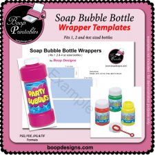 Soap Bubble Wrappers TEMPLATES by Boop Printable Designs