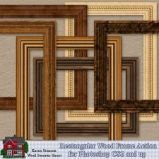 Wood Frame Action by Karen Stimson