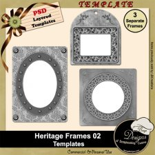Heritage Frames TEMPLATES 02 by Boop Designs