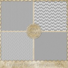 Layered Paper Templates 23 by Josy