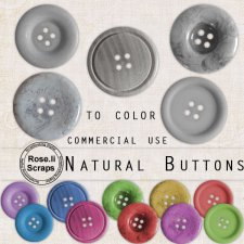 Natural Buttons I by Rose.li