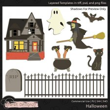 EXCLUSIVE Layered Halloween Templates by NewE Designz
