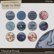 Material Brads - EXCLUSIVE Designs by Ohana