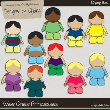 Wee Ones - Princesses - EXCLUSIVE Designs by Ohana