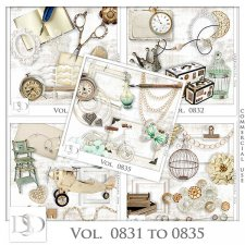 Vol. 0831 to 0835 Vintage Mix by D's Design