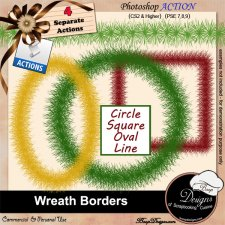 Wreath Borders Photoshop ACTION byBoop Designs