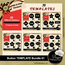Button TEMPLATE BUNDLE 01 by Boop Designs