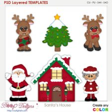 Santa's House Layered Element Templates