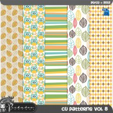 Fall Pattern Templates vol 08 by Peek a Boo Designs