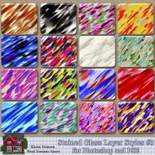 Stained Glass Layer Styles 3 by Karen Stimson