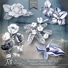 Designer Stash Vol. 152 - Painted Beauties No. 3 by Feli Designs