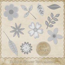 Build A Flower Layered Templates 1 by Josy