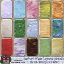 Stained Glass Layer Styles 2 by Karen Stimson